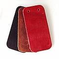 cuir de 50x pour affiner pièce rectangulaire armure à écailles, rouge