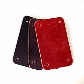 50x nubuck leather rectangular piece for scale armour, red