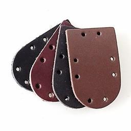 50x de cuero nobuck pieza redonda de armadura de escamas, negro
