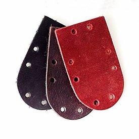 50x Nubukleder rundes Stück für Schuppenpanzer, rot