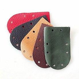 50x napa pieza redonda de armadura de escamas, de color marrón oscuro