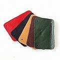 Cuir nappa 50x affiner pièce rectangulaire de blindage à grande échelle, rouge