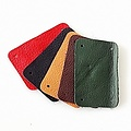 50x nappa leather narrow rectangular piece for scale armour, green