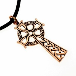 Celtic tværs amulet, bronze