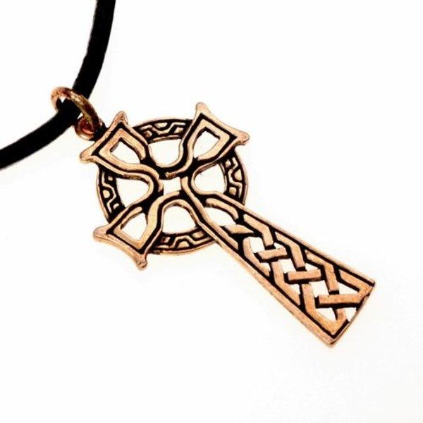 amulette croix celtique, bronze