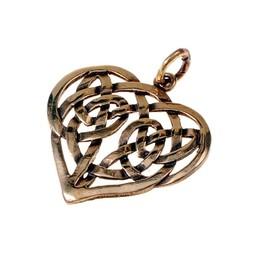 Celtic Herz-Anhänger, Bronze