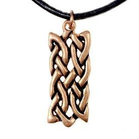Colgante celta motivo nudo rectangular, bronce