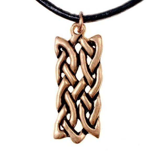 Pendente motivo nodo rettangolare celtica, bronzo