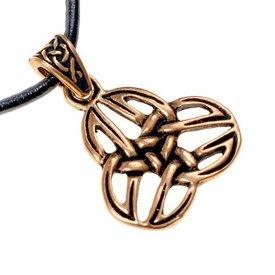 Celtic triquetra pendant, bronze