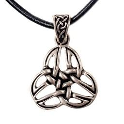 Celtic triquetra hänge, försilvrade brons