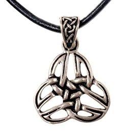 Celtic triquetra pendant, silvered bronze