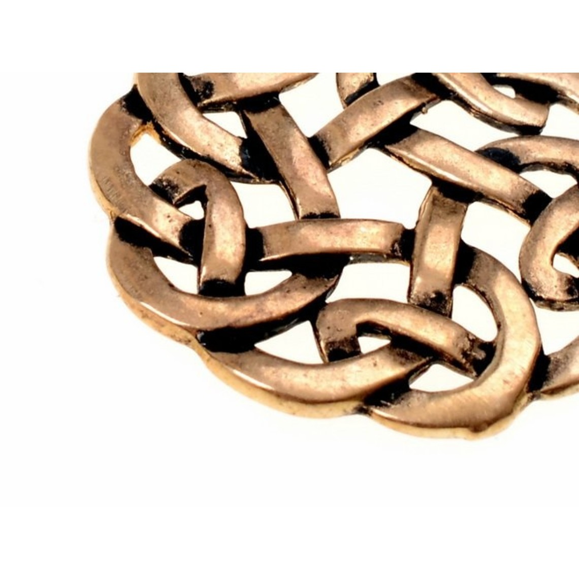 Amulet ronde Keltische knoop, brons