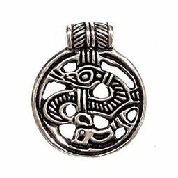 9th century Birka amulet, silvered bronze