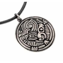 Norse Borre amulett, försilvrad