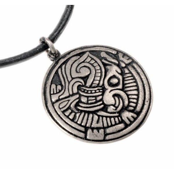 Norse Borre Amulett, versilbert