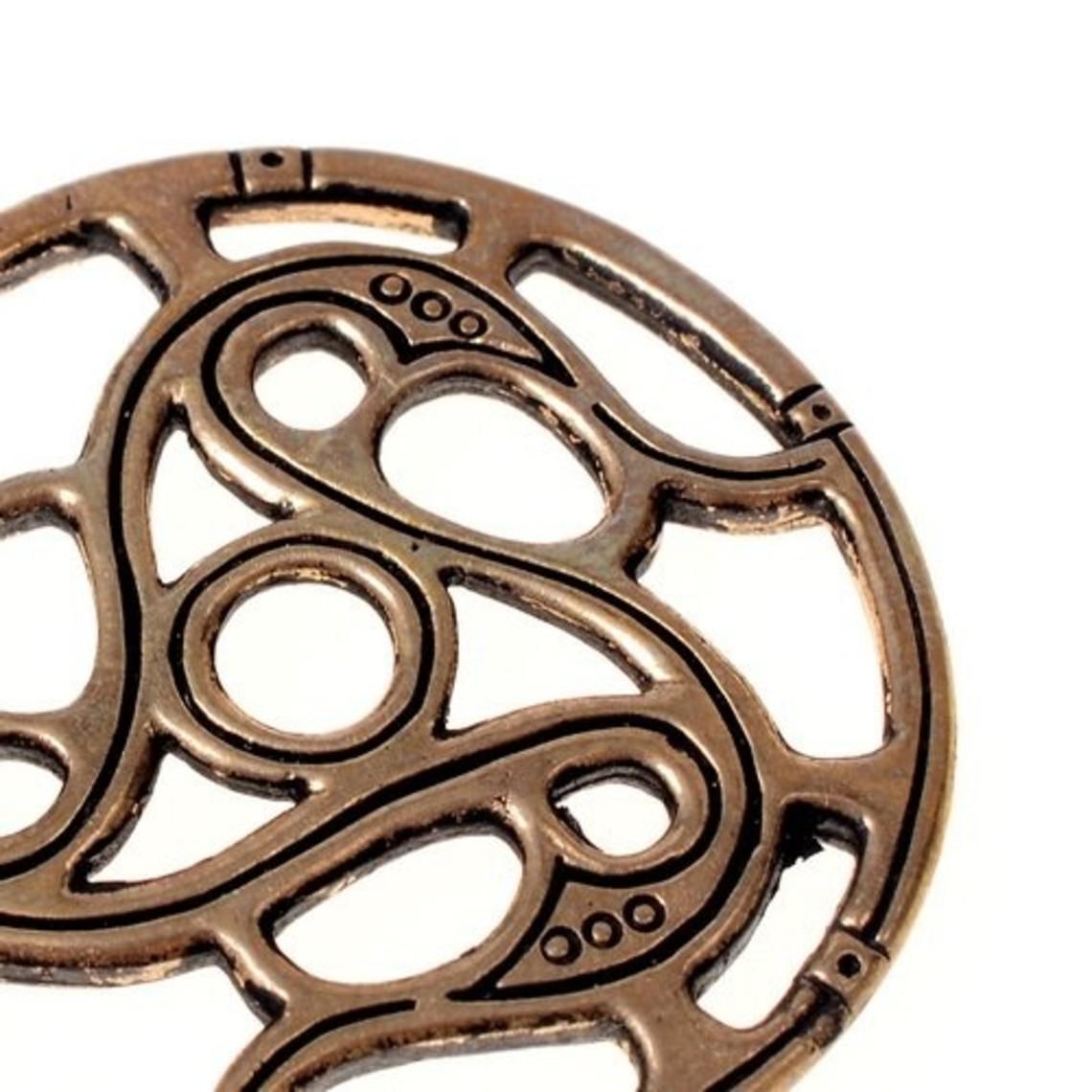 Trisquelion amulet Vendel style, bronze