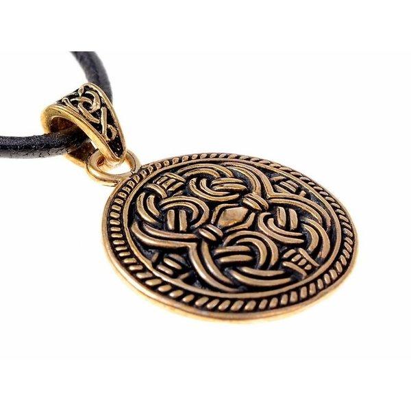 Disk vedhæng Borre-stil, bronze