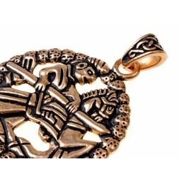 Gokstad jeździec amulet, brąz