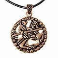 Gokstad horseman amulet, bronze