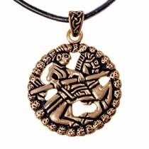 Gokstad ruiteramulet, brons