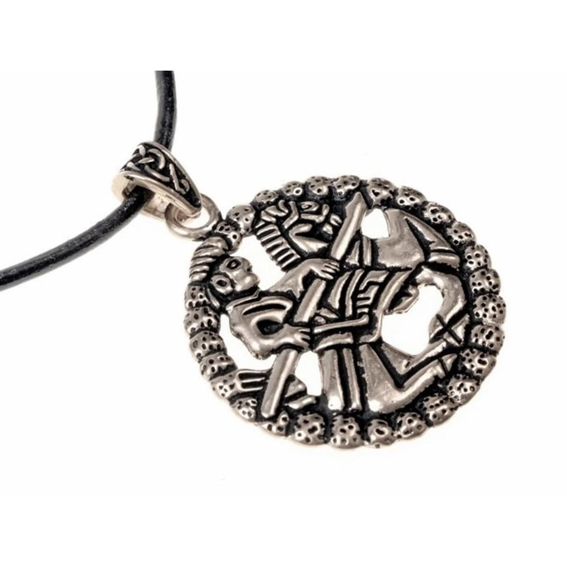 Amulette cavalier Gokstad, argentée