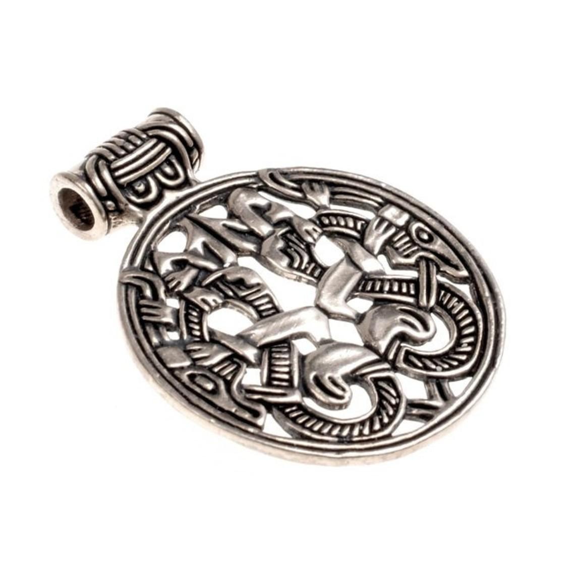 Varby Jellinge juvel, försilvrade brons