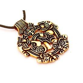 Viking jewel Norfolk Borre style, bronze