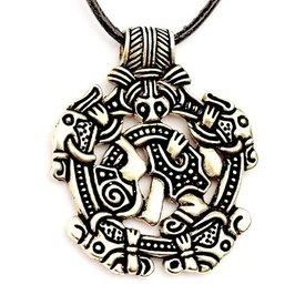 estilo de Viking Norfolk Borre joya, plateado
