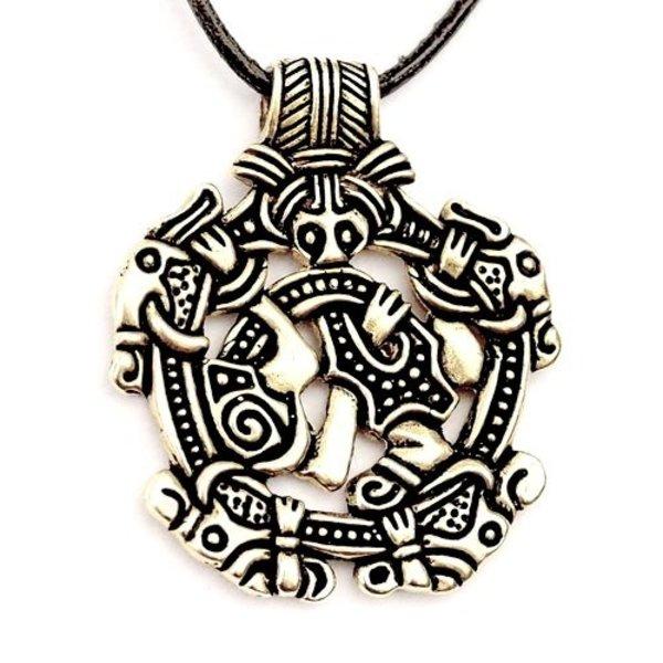 Viking Juwel Norfolk Borre Stil, versilbert