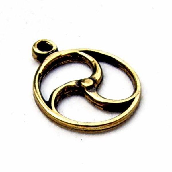 Celtic sol amulett, brons