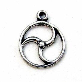 Celtic sol amulet, forsølvede