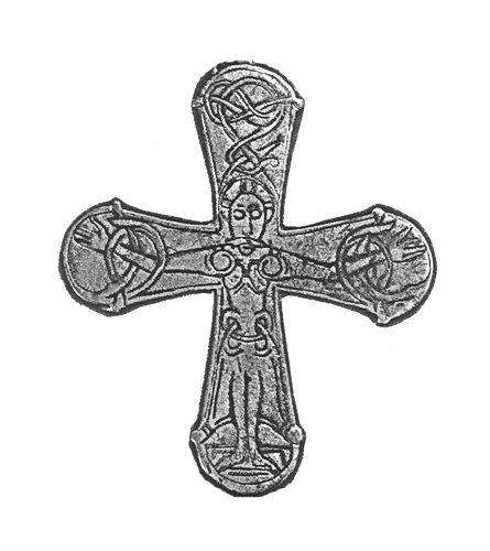 Gatebo de Viking cruz, bronce