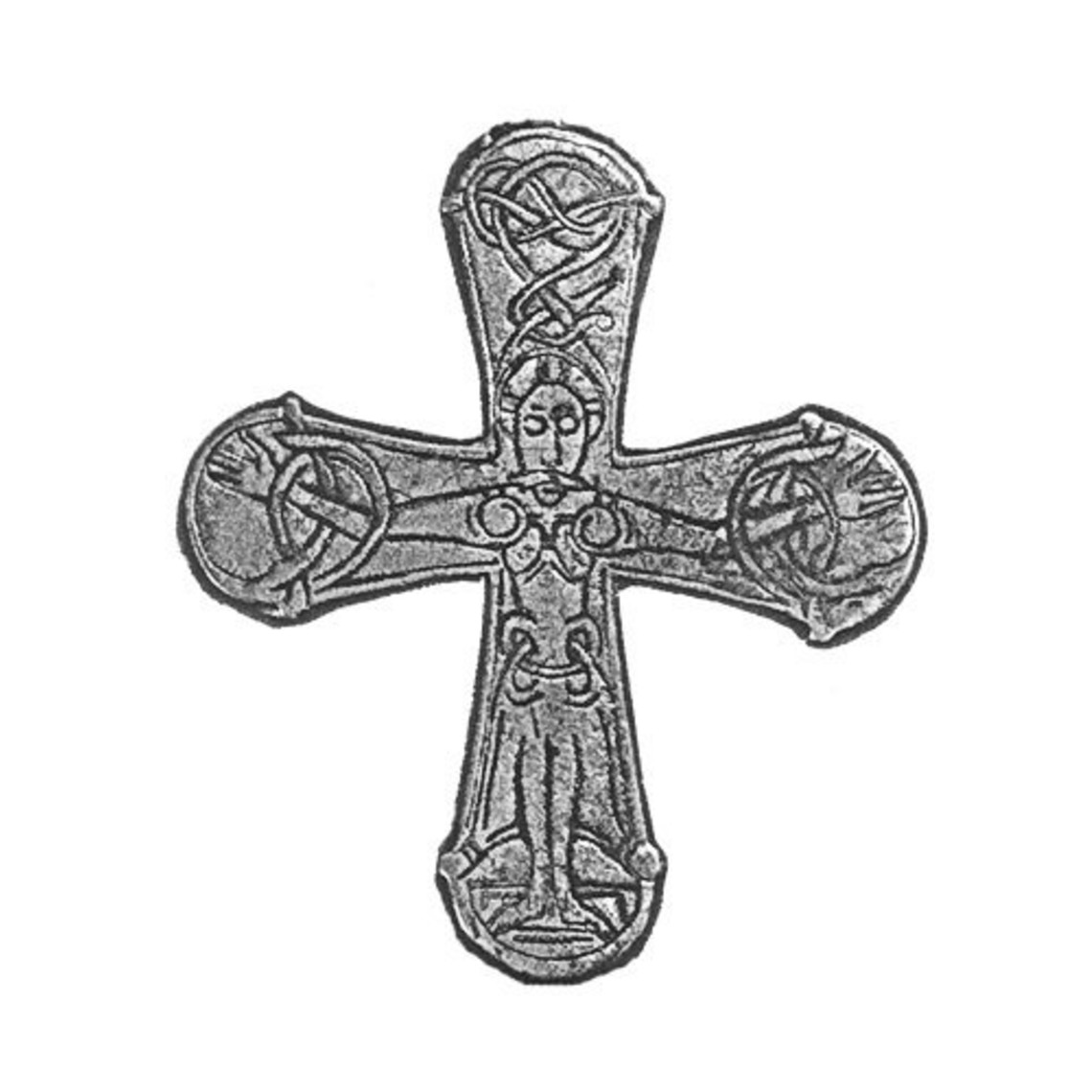 Gatebo vichingo croce, argentato