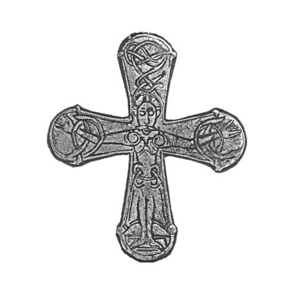 Gatebo Viking cross, silvered