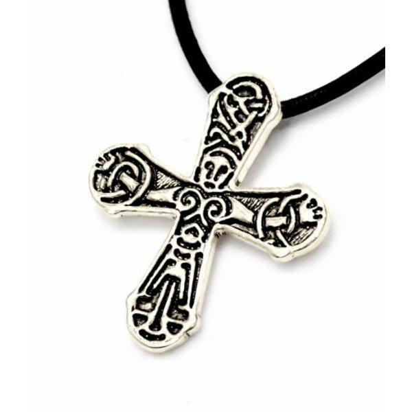 Gatebo Viking krzyż, posrebrzane
