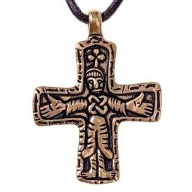 Gotland vichingo gioiello croce, bronzo