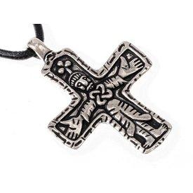 Gotland Viking cross jewel, forsølvede