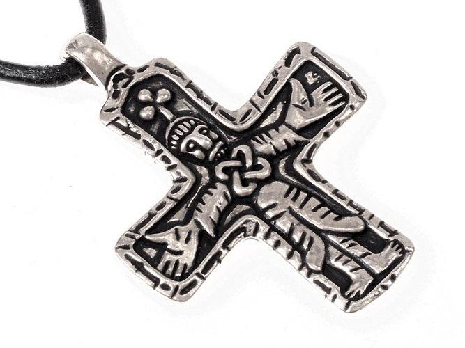 Gotland Vikingo cruz de la joya, plateado