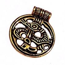 9ème siècle amulette Birka, bronze
