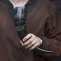 Epic Armoury Drinking horn Druid 0,5L, dark