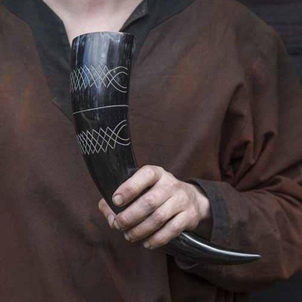 Epic Armoury Corne à boire Druide 0,5L, foncé