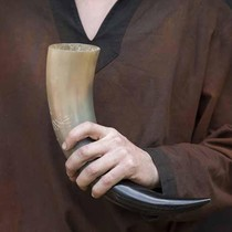 Drinking horn stand spiral