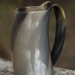de vaso curvado con el oído 0,5L, luz
