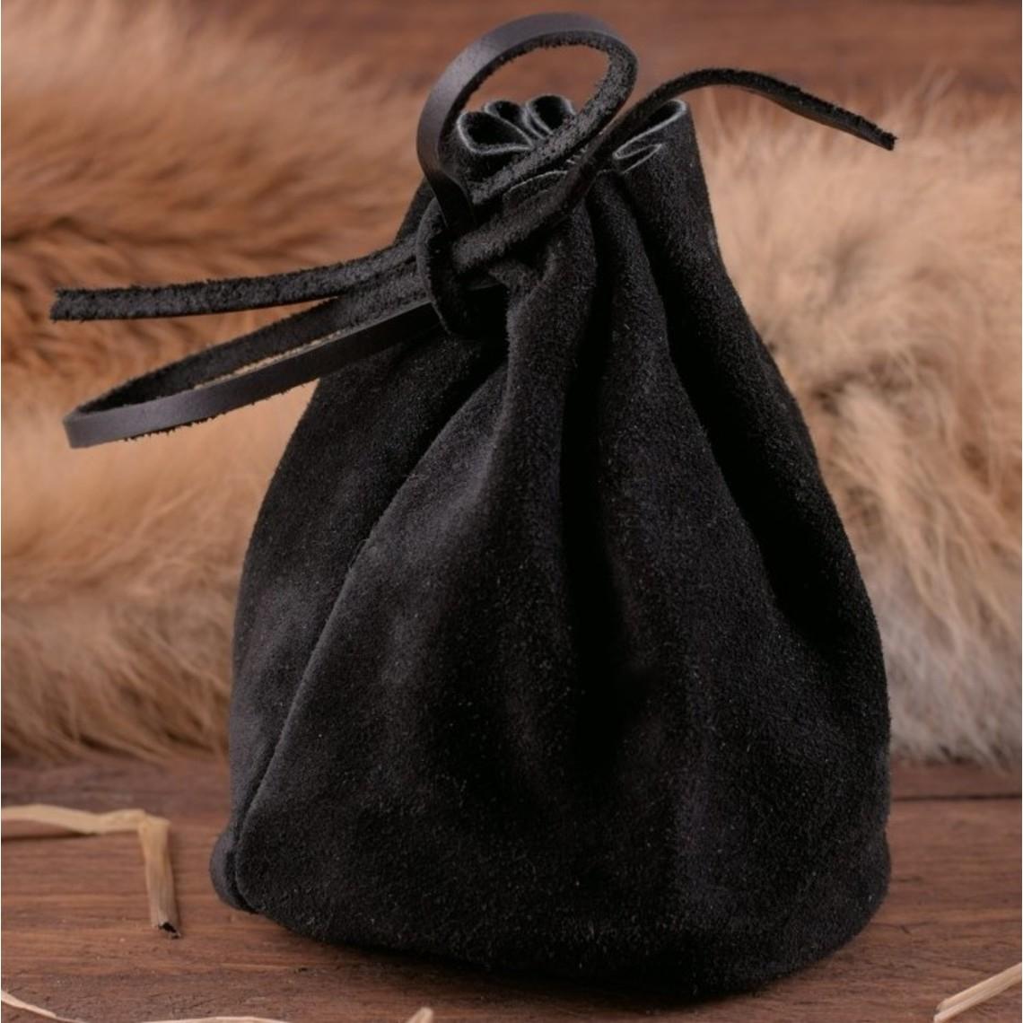 Skórzany pokrowiec, czarny