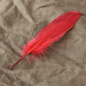 Gås fjäder röd, 15-21 cm