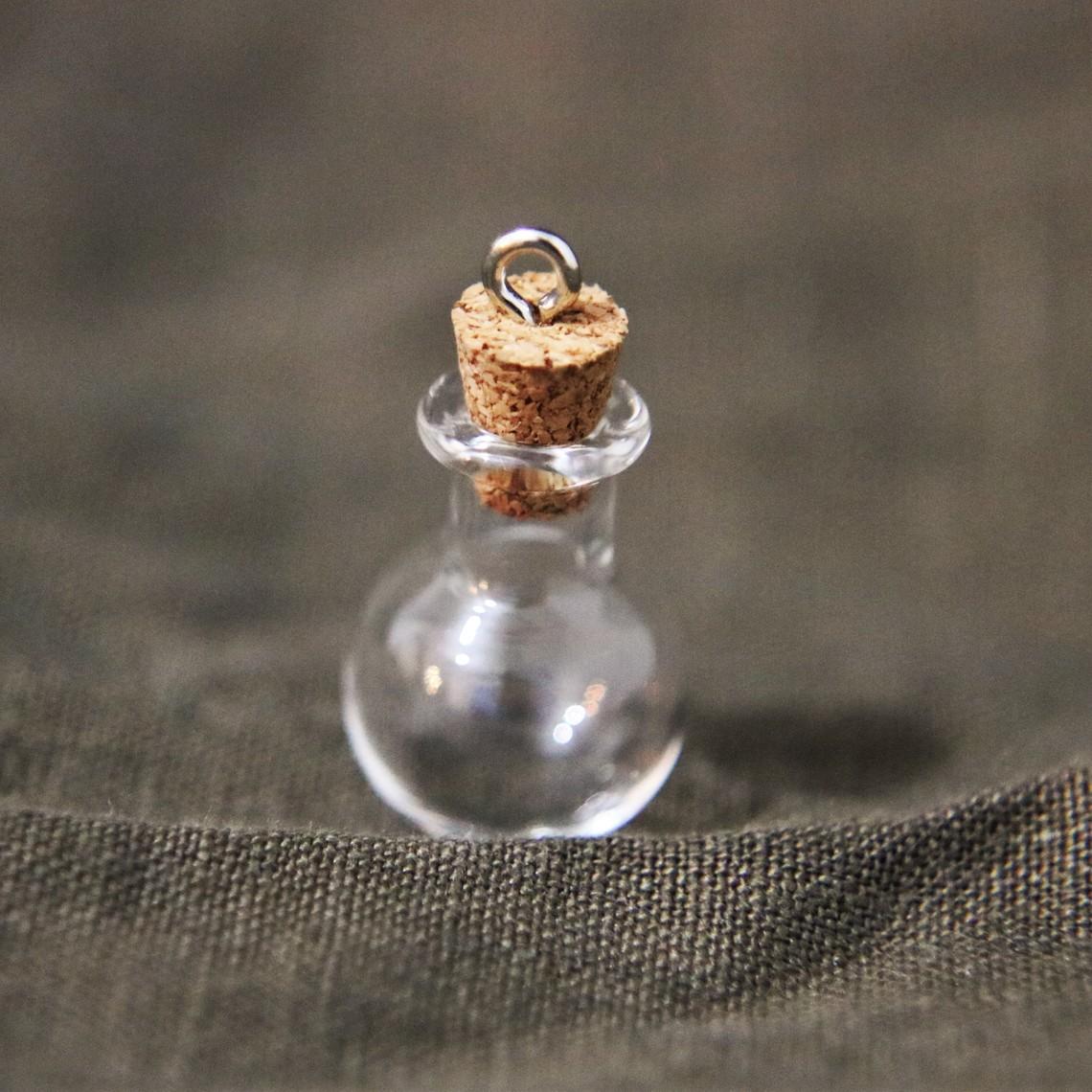 Zawieszka okrągła butelka