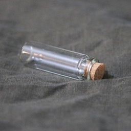 Glass bottle 2x6 cm