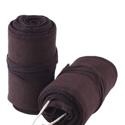 Leg wrappings Ubbe, brown