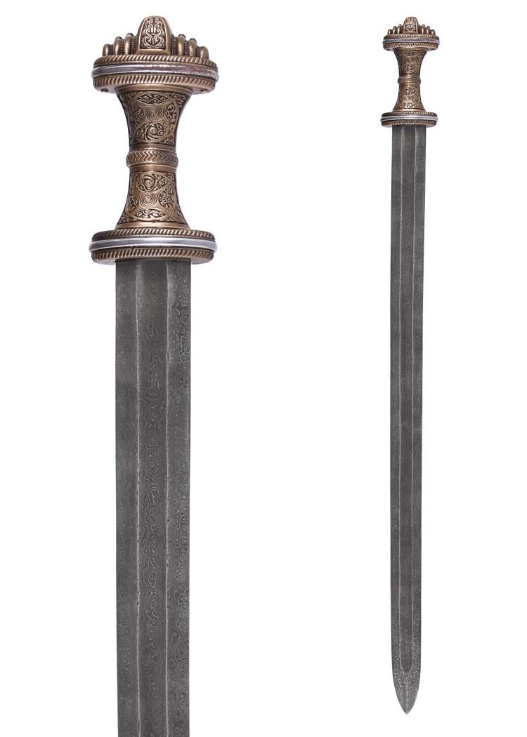 Angelsaksisch zwaard Fetter Lane, damaststaal