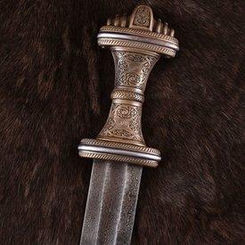 Deepeeka Anglosassone spada Fetter Lane, in acciaio damast